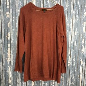EILEEN FISHER XL PUMPKIN SPICE ORANGE MERINO